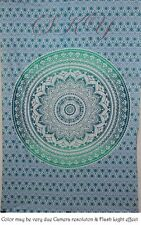 INDIAN MANDALA ROUND PSYCHEDELIC SINGLE OMBRE THROW TAPESTRY TWIN BEDDING SB 16Q