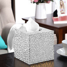 Square Pu Leather Tissue Paper Box Toilet Holder Cover Paper Case Storage Us