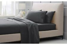 SHERIDAN Hotel Weight Luxury Cotton Sateen 1000 TC Sheets QUEEN Charcoal Colour