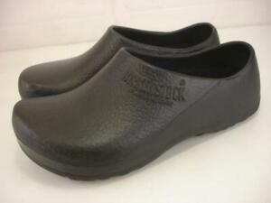 Men's 8 R M Women's 10 Birkenstock 41 68011 Black Super Birki Clogs Rubber Shoes