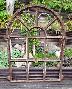 Vintage altes Gusseisen Stallfenster - Eisenfenster mit großer Klappe ANTIK !