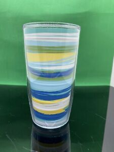 Tervis Tumbler 16 oz Stripes Blue, Yellow, White, Green Hot or Cold