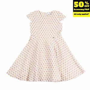 ALICE PI. Fit & Flare Dress Size 14Y / 164CM Lame Polka Dot Zip Back