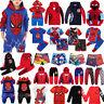 Jungen Kinderkleidung Spiderman Hoodie Sweatshirt Hose Set T-shirt Outfit Kostüm