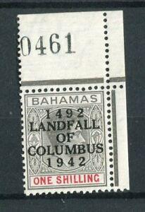 Bahamas KGVI 1942 Columbus Anniversary 1s brownish-grey & scarlet SG171 MNH
