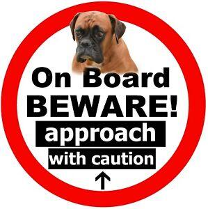 Boxer Sur Board - Fun Voiture Fantaisie / Fenêtre Autocollant (Beware + 1