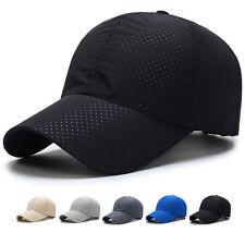 Man Summer Snapback Quick Dry Mesh Baseball Cap Sun Hat Bone Breathable Hats AU