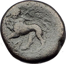 Sardes in Lydia 133Bc Authentic Ancient Greek Coin Dionysus and Panther i62313