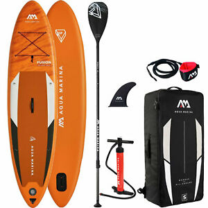 Aqua Marina Inflatable Fusion SUP iSUP Stand Up Paddle Board mit Paddel SET