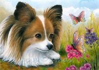 PAPILLON #3 DOG  ACEO Card Print by Alma Borcuk