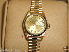 Rolex President 18kt Yellow Gold Datejust Ladies' with Champagne Diamond Dial
