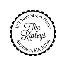 Personalized Custom Handle Mounted Rubber Stamp Returned Address Wedding R136
