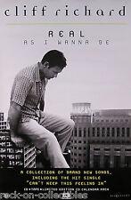 Cliff Richard 1998 Real As I Wanna Be Original Promo Poster