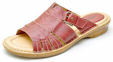 Earth Shoes WILLOW Red Leather Slides Sandals Slip Ons Women's 12 - NEW