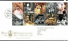 GB 2003 FDC Coronation 50th Anniv Special Handstamp London SW1 stamps