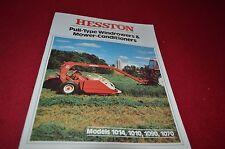 Hesston 1014 1010 1090 1070 Haybine Mower Conditioner Dealer's Brochure YABE7