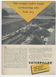1953 Caterpillar D8 Tractor & Scraper Ad: Redwood City, California, Archibald