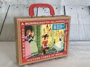 Walt Disney Bilderbaukasten Holzwurfel Picture Cubes of Wood 6 Puzzles Germany