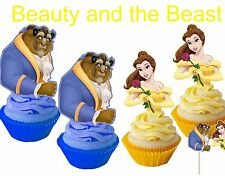 24 pcs beauty and the beast cakepop/cupcake toppers