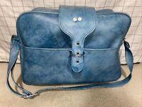 Vintage Blue Marble Imperial LR2 Carry on Luggage Suitcase travel shoulder bag