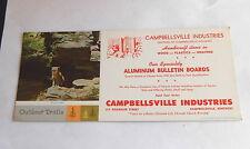 Vintage Campbellsville Industries KY College Surprised Advertising Ink Blotter