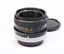 Beautiful Black Canon FD 50mm F/1.8 S.C. Prime Lens, EX++ Condition