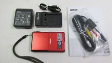 Used Nikon COOLPIX S80 14.1MP Digital Camera PINK with charger etc VG+