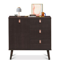 3-Drawer Sideboard Storage Display Cabinet Entryway Console Table Buffet Home