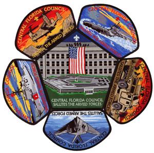 Central Florida Council Military Salutes Armed Forces CSP Patch Set Lot Jamboree