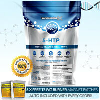 5HTP -STRONGEST PHARMA GRADE 5-HTP -180 TABLETS X 200MG - MEGA SEROTONIN BOOST++