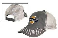Cummins Diesel Engines Gray Trucker Embroidered Patch Distressed Mesh Cap Hat