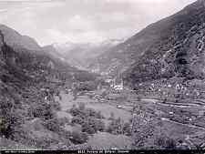 Wehrli. Suisse, Ferrovia del Gottardo Giornico  Vintage print Photomécanique