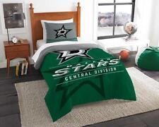 Dallas Stars - 2 Pc TWIN Size Printed Comforter/Sham Set