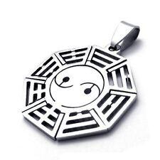 Premium Quality Stainless Steel YIN YANG Pendant Taoist Tai Chi