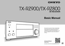 Onkyo Tx-Rz900 Tuner Owners Manual Printed Or Pdf Free Shipping