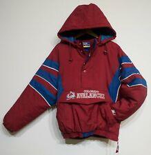 Rare Vtg 90s Colorado Avalanche Starter Front Pouch Heavyweight Jacket sz L Nfl