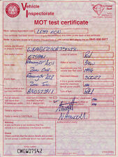 MOT Test Certificate 1993 BMW Expired  4 February 2002
