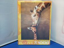 Eurographics Giraffe Mother's Kiss 1000 Piece Jigsaw Puzzle NMISB!