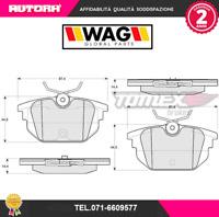 1243 Kit pastiglie freno a disco post.Fiat-Lancia (MARCA-WAG)