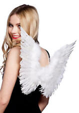 White Feather Angel Wings Christmas Fancy Dress Costume Ladies Kids Accessory