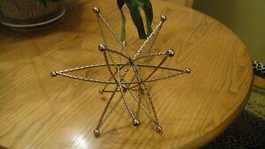 3D brass or gold metal Sputnik Star Burst Art Sculpture Vintage MCM ?