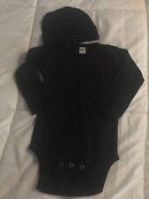 Baby Boy or Girl Longsleeve One piece bodysuit in Black w/Hat Sz 6-12 Mo. Nwot