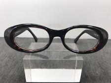 Gianfranco Ferre Eyeglasses 48-20-135 Black Full Rim MarbleBrown Eye Frame 9630