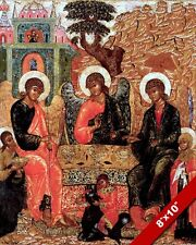 FATHER ABRAHAM RUSSIAN OTHRODOX PAINTING CHRISTIAN BIBLE ART REAL CANVAS PRINT