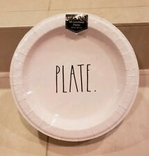 """NEW Rae Dunn """"Plate"""" Luncheon Plates, 50 count of 10.5"""" luncheon paper plates"""