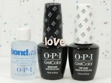 OPI GelColor Polish Soak Off Set of Base Coat & Top Coat & pH Bondaid 0.5fl.oz