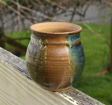 """Handmade Pottery Vase Pot Container 3 7/8"""" Tall 3 1/8"""" Diameter Signed by Artist"""