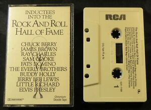 1986 1st Annual Rock & Roll Hall of Fame Inductees Tape Cassette Elvis Presley