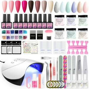 COSCELIA Gel Nail Polish UV Gel Set Dipping Powder Lamp Art Tools Color Manicure