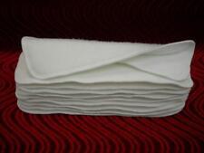 """3 Layer Soaker Cloth Diaper Insert Liner13X5"""" Hemp Organic Bamboo Cotton Fleece"""